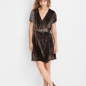 NWT Madewell Velvet Wrap Dress Petite Blooms XS
